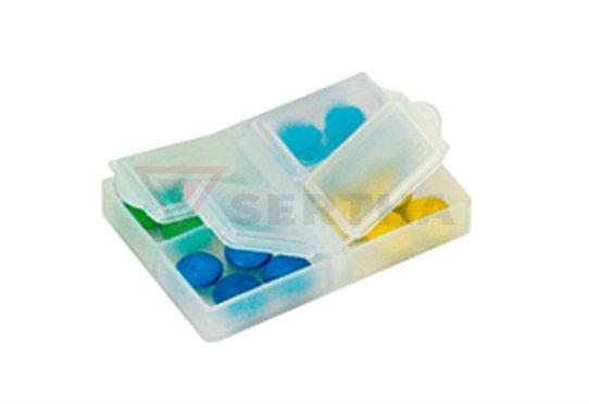 Porta Comprimidos 4 Cavidades PP