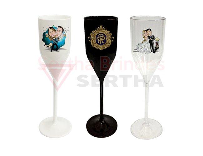 Taça Champagne 200ml PS Personalizada em Transfer